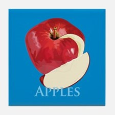 Crisp Red Apple Tile Coaster