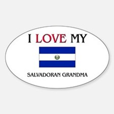 I Love My Salvadoran Grandma Oval Decal