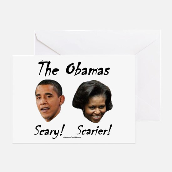 """""""Obamas Are Scary"""" Greeting Card"""