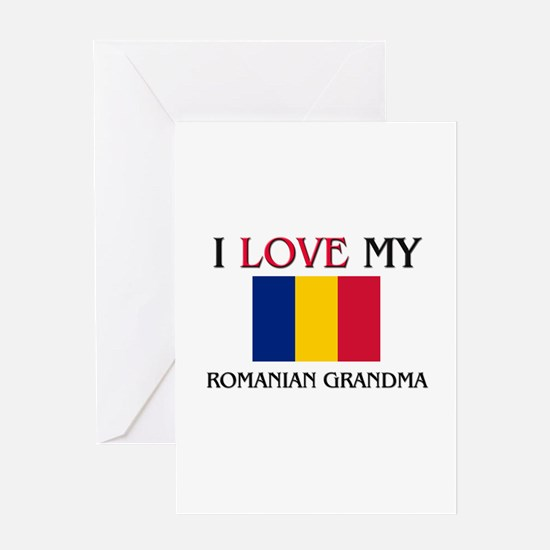 I Love My Romanian Grandma Greeting Card