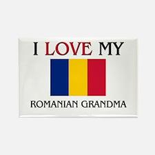 I Love My Romanian Grandma Rectangle Magnet