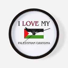 I Love My Palestinian Grandma Wall Clock