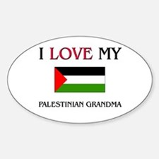 I Love My Palestinian Grandma Oval Decal
