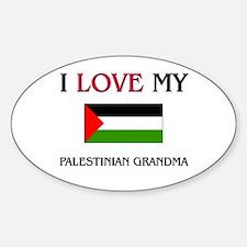 I Love My Palestinian Grandma Oval Decal