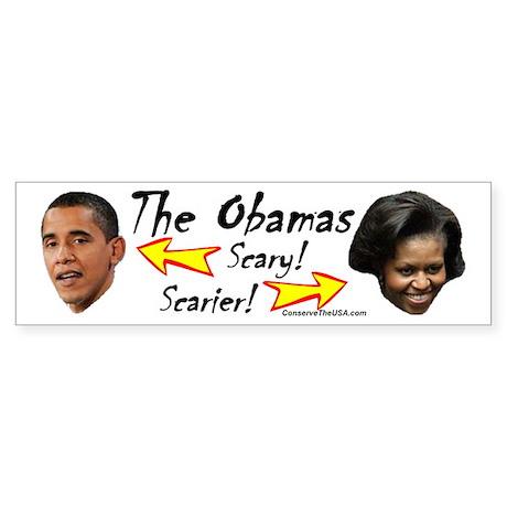 """Obamas Are Scary"" Bumper Sticker"