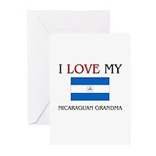 I Love My Nicaraguan Grandma Greeting Cards (Pk of