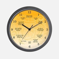 drinking Wall Clock