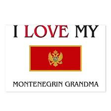I Love My Montenegrin Grandma Postcards (Package o