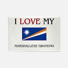 I Love My Marshallese Grandma Rectangle Magnet