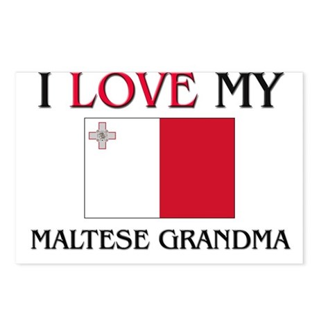 I Love My Maltese Grandma Postcards (Package of 8)