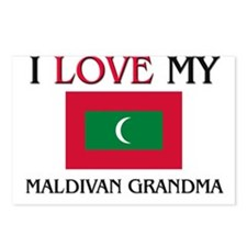 I Love My Maldivan Grandma Postcards (Package of 8