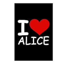 I LOVE ALICE (blk) Postcards (Package of 8)