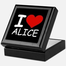 I LOVE ALICE (blk) Keepsake Box