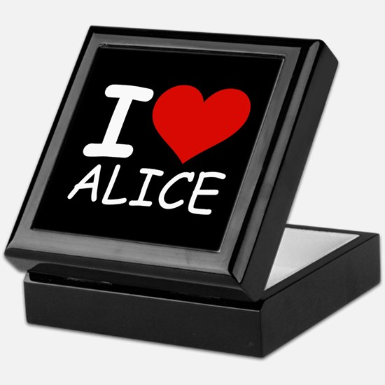 I LOVE ALICE (blk) Keepsake Box