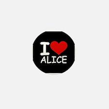 I LOVE ALICE (blk) Mini Button (10 pack)