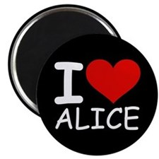 I LOVE ALICE (blk) Magnet