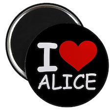 """I LOVE ALICE (blk) 2.25"""" Magnet (10 pack)"""