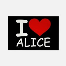 I LOVE ALICE (blk) Rectangle Magnet