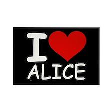 I LOVE ALICE (blk) Rectangle Magnet (10 pack)