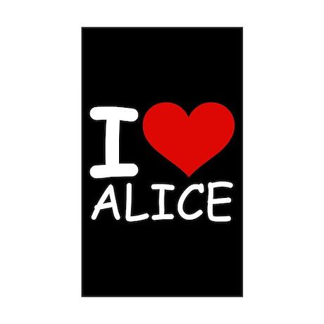 I LOVE ALICE (blk) Rectangle Sticker 10 pk)