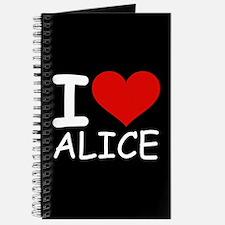 I LOVE ALICE (blk) Journal