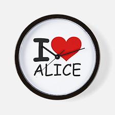 I LOVE ALICE Wall Clock