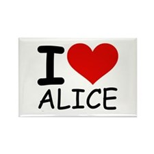 I LOVE ALICE Rectangle Magnet