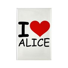 I LOVE ALICE Rectangle Magnet