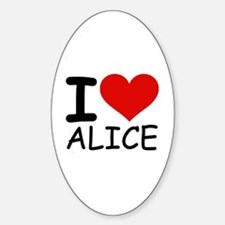 I LOVE ALICE Oval Decal