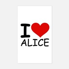I LOVE ALICE Rectangle Decal