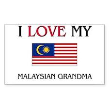 I Love My Malaysian Grandma Rectangle Decal