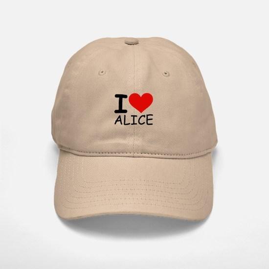 I LOVE ALICE Baseball Baseball Cap
