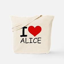 I LOVE ALICE Tote Bag