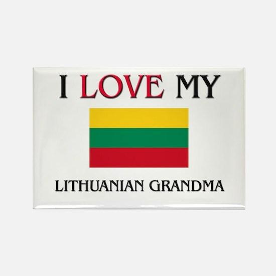 I Love My Lithuanian Grandma Rectangle Magnet