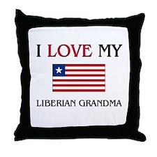 I Love My Liberian Grandma Throw Pillow