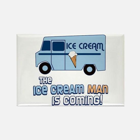 Ice Cream Man Rectangle Magnet