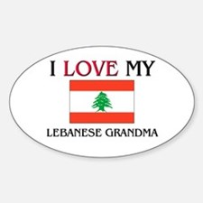 I Love My Lebanese Grandma Oval Decal