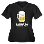 Andorra Drinking Team Women's Plus Size V-Neck Dar