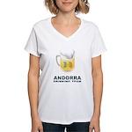Andorra Drinking Team Women's V-Neck T-Shirt