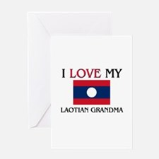 I Love My Laotian Grandma Greeting Card