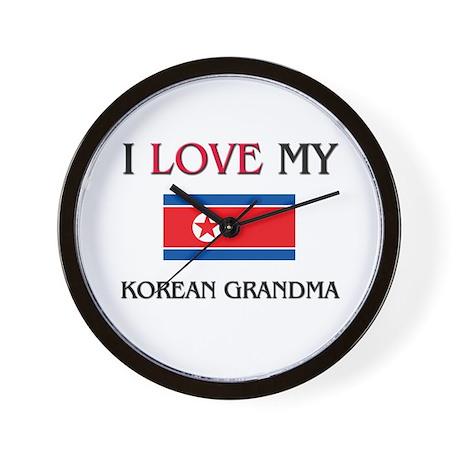 I Love My Korean Grandma Wall Clock