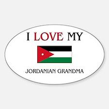 I Love My Jordanian Grandma Oval Decal