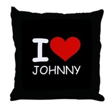 I LOVE JOHNNY Throw Pillow