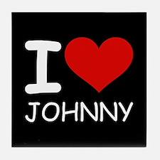 I LOVE JOHNNY Tile Coaster