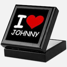 I LOVE JOHNNY Keepsake Box