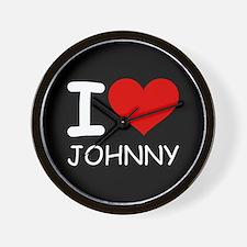 I LOVE JOHNNY Wall Clock