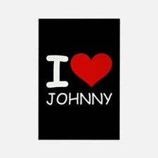 I LOVE JOHNNY Rectangle Magnet