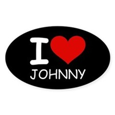I LOVE JOHNNY Oval Decal