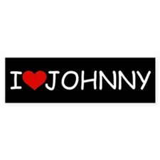 I LOVE JOHNNY Bumper Bumper Sticker