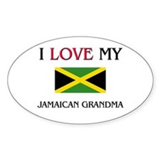 I Love My Jamaican Grandma Oval Decal